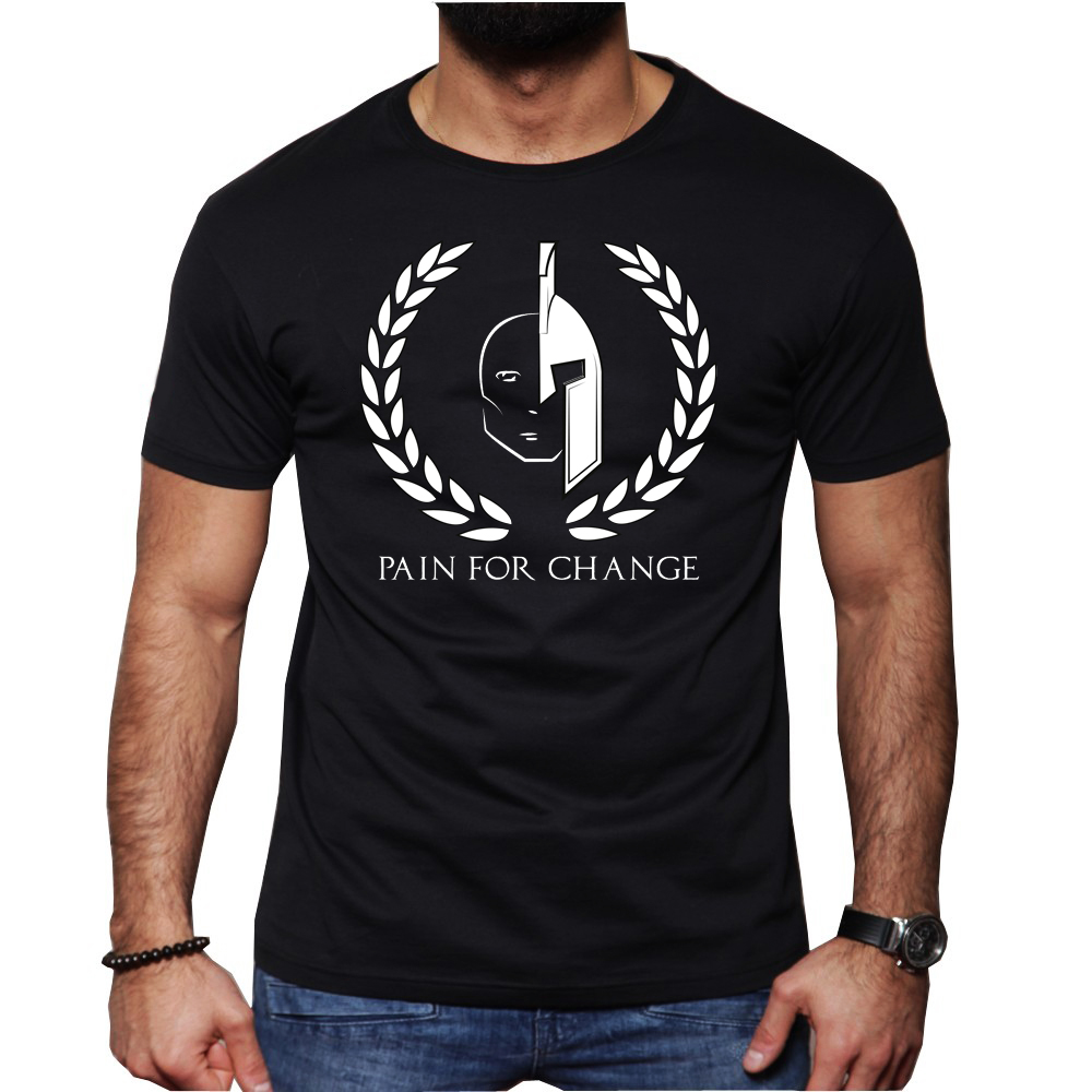 t shirt pain for change homme noir 01 kaiena. Black Bedroom Furniture Sets. Home Design Ideas