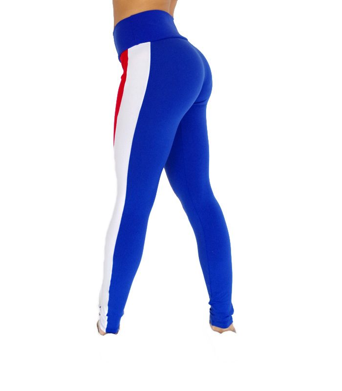 Legging France bleu blanc rouge 582 dos