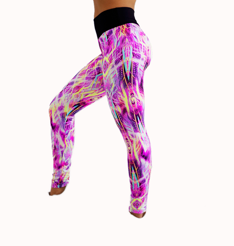 Legging a losanges en couleurs 607 face