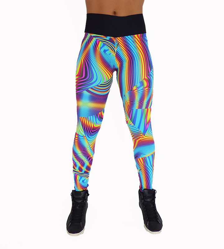 Legging en arc en ciel coloré 100750 dos