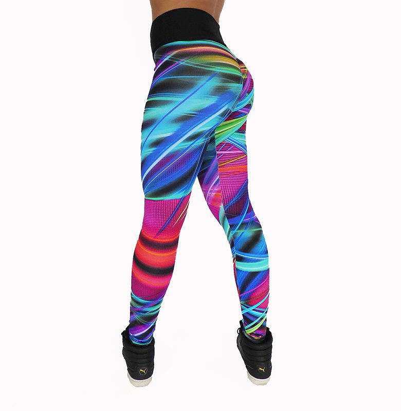 Legging multicolor et couture push up fessier 100757 3/4