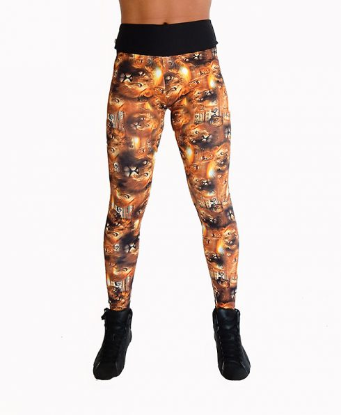 Legging savane afrique lion 100806 face
