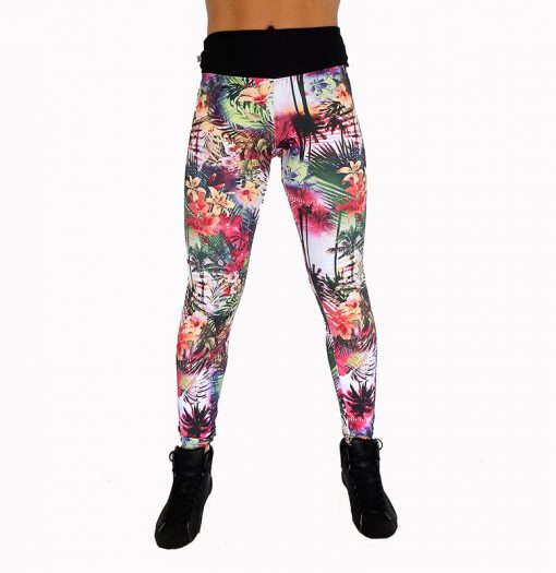 Legging floral coloré 100822 face